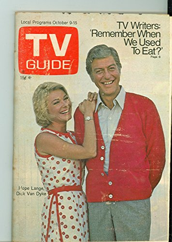 1971 TV Guide October 9 Dick Van Dyke and Hope Lange - Pittsburgh Edition NO MAILING LABEL Very Good to Excellent (4 out of 10) Used Cond. by Mickeys Pubs (Family Hope Program Guide)