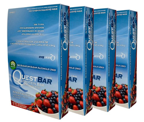 quest protein bars mixed berry - 9