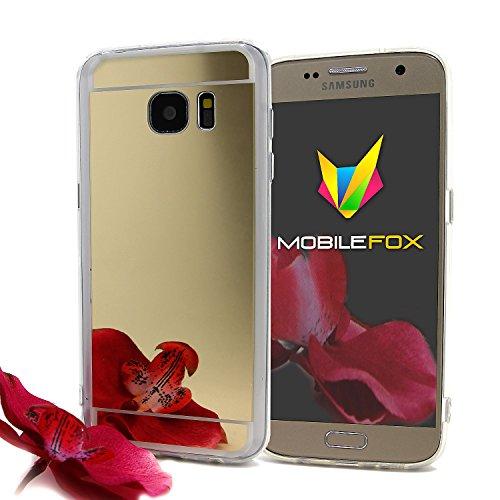 Mobilefox Schneewittchen Schutzhülle Spiegel TPU Case Samsung Galaxy S7 Edge Gold