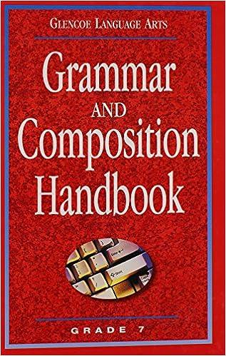 Amazon glencoe language arts grammar and composition handbook glencoe language arts grammar and composition handbook grade 7 1st edition fandeluxe Images