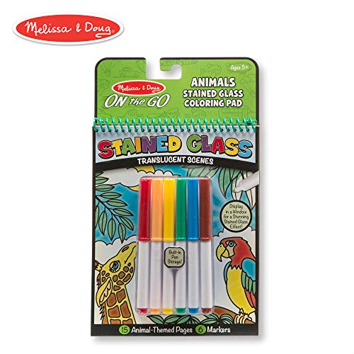 (Melissa & Doug On the Go Stained Glass Coloring Pad - Animals)
