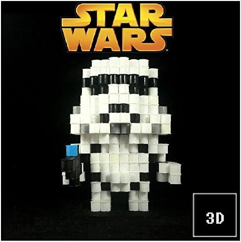 Figuras 3D de Pixel Art hama hechas a mano modelo Soldado Asalto ...