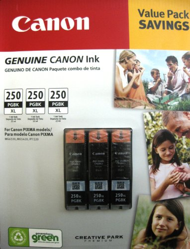 Cartridge Triple Pack (Canon PGI-250XL Black Ink Cartridge Triple Value Pack)