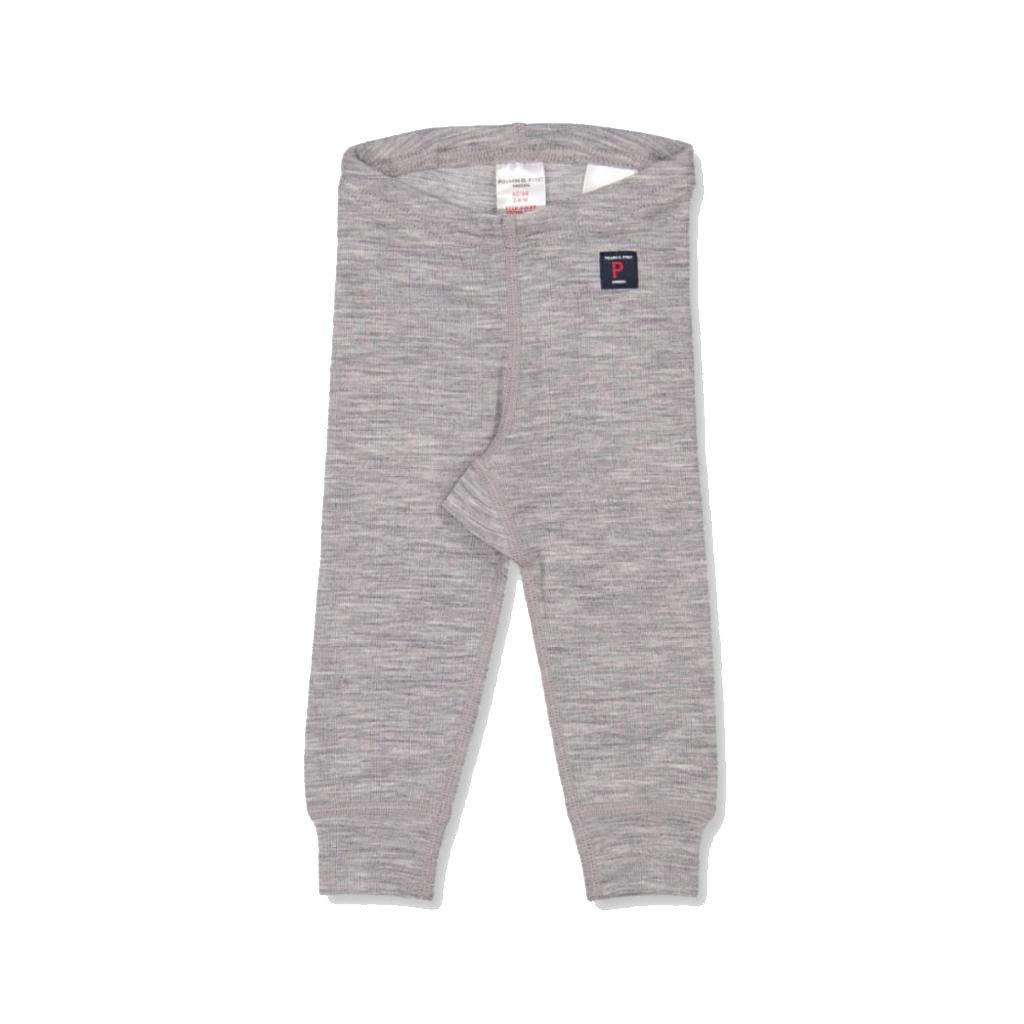 Polarn O. Pyret Merino Wool Long Johns (Newborn) - Greymelange/2-6 Months