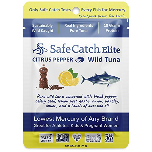 Safe Catch Seasoned Elite Wild Tuna - 12 pack (2.6oz pouch) - Citrus Pepper