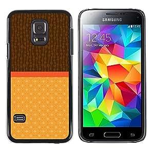 FECELL CITY // Duro Aluminio Pegatina PC Caso decorativo Funda Carcasa de Protección para Samsung Galaxy S5 Mini, SM-G800, NOT S5 REGULAR! // Two Tone Brown Beige