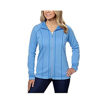 Kirkland Signature Ladies' Reversible Full Zip Jacket - Blue, XXLarge at Women's Clothing store