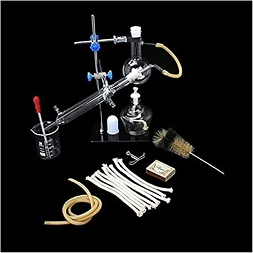 Lchzl Grupos Laboratorio de destilación de Vapor de Aceite Esencial Aparato de destilación de Distiller purificador ...