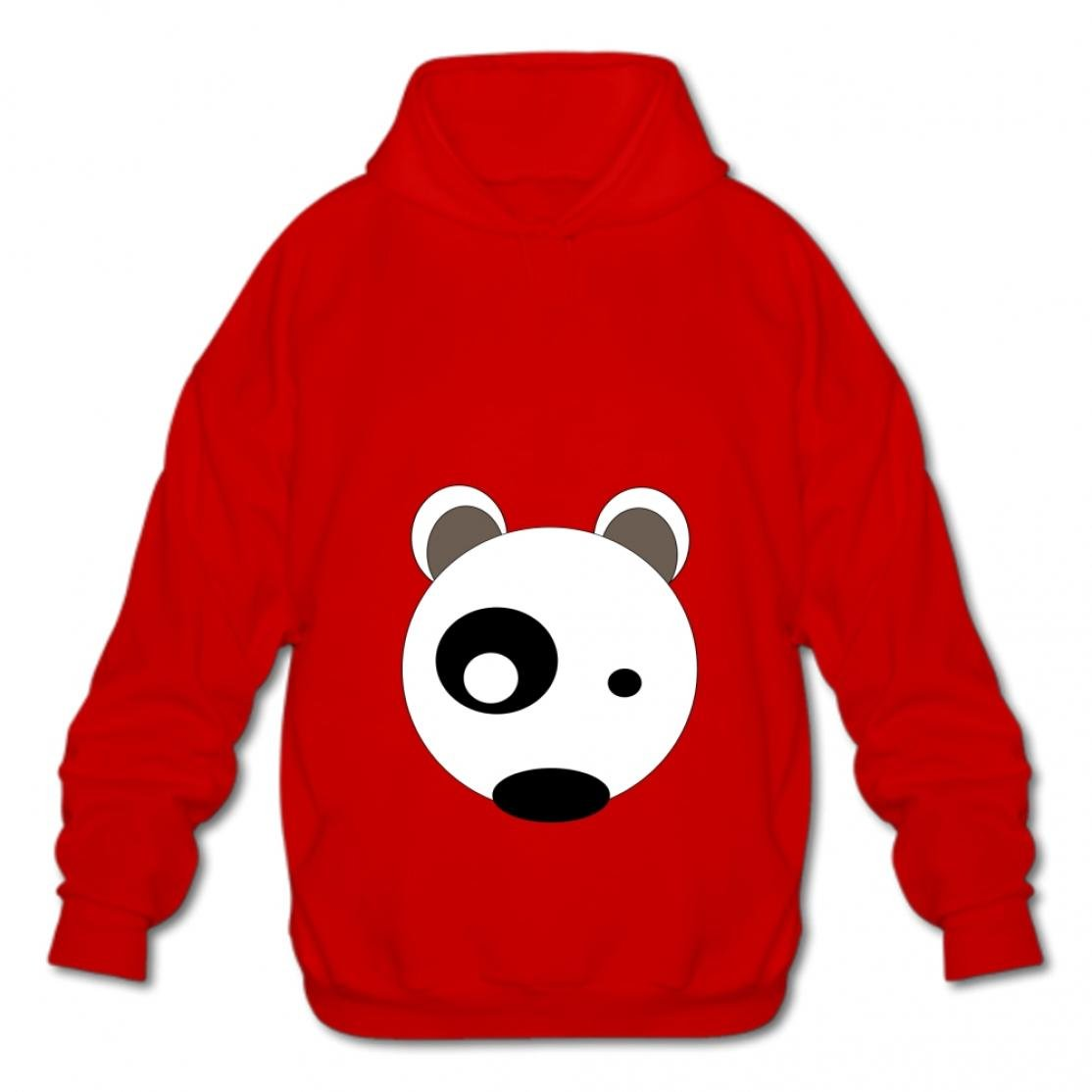 Tngjijish Men Fashion Sweatshirt Cotton Pullover Hooded Fashion Hoodies-03 Cartoon Dog Dsdy