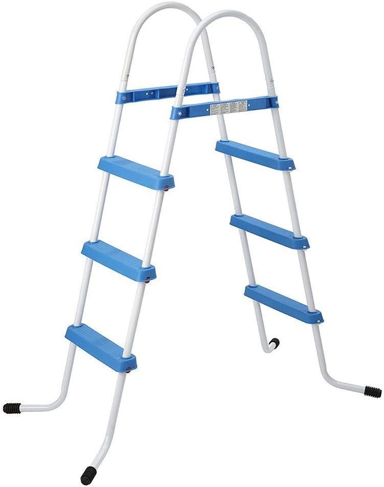 ASAB - Escalera de 2 o 3 peldaños de plástico Seguro para Cualquier Tipo de Piscinas por Encima del Suelo, 3 Step (90cm): Amazon.es: Hogar