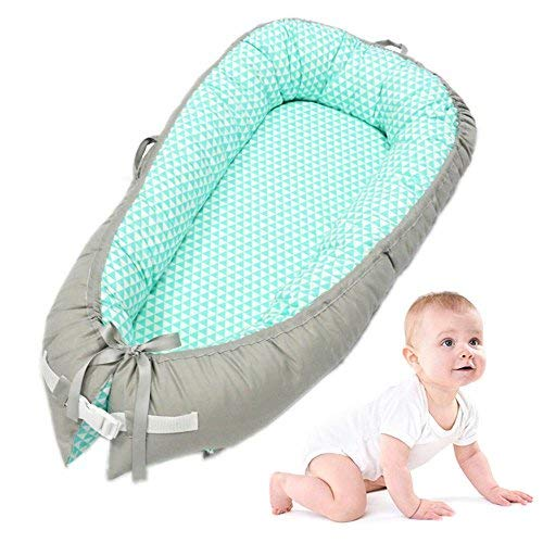 Discover Bargain Baby Lounger, leegoal Portable Super Soft and Breathable Newborn Infant Bassinet,Wa...