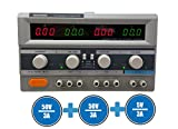 Tekpower TP5003D-3 Digital Variable Triple Outputs Linear-Type DC Power Supply, 0-50 Volts @ 0-3 Amps
