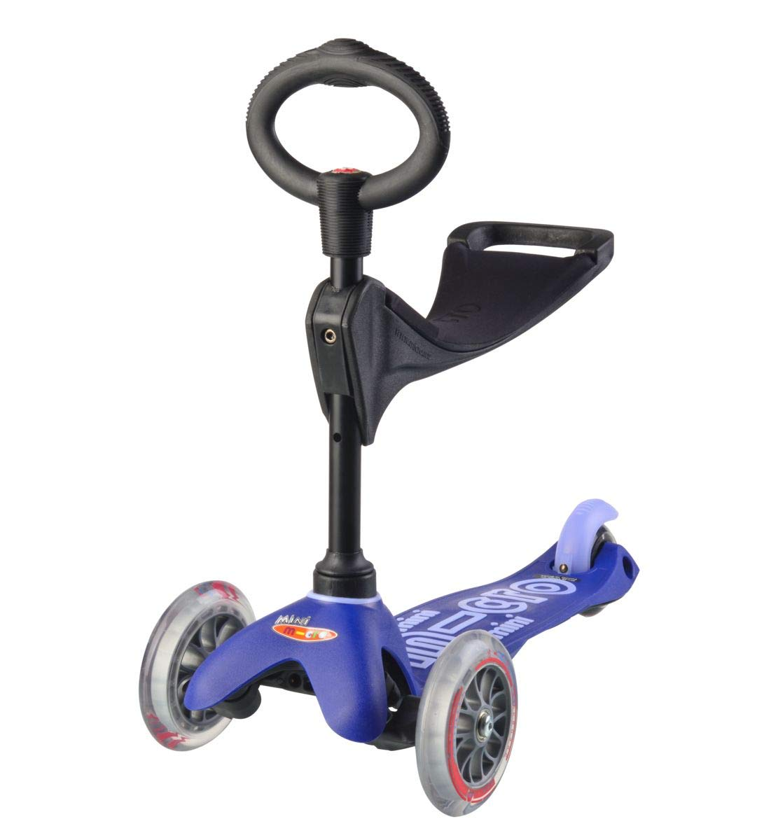 Mini 3in1 Deluxe 3-stage ride-on Micro scooter toddler toys for ages 12 months to 5 years - Blue by Micro Kickboard