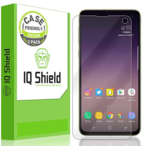 IQ Shield Screen Protector Compatible with Galaxy S10e 5.8 inch (2-Pack)(Case Friendly) LiquidSkin Anti-Bubble Clear Film