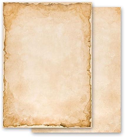 Carta da lettera decorati ANTICO 100 fogli formato DIN A6