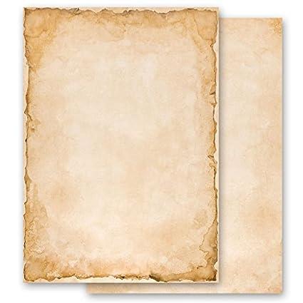 Papel de carta – Hojas estampadas VINTAGE 100 hojas DIN A6