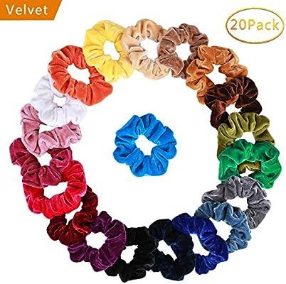 36 pcs Velvet Elastic Hair Bands Scrunchy Hair Accessories Pick up.