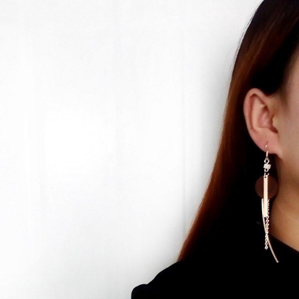 Doitsa 1 paar Ohrringe Ohrhaken Mode Ohrh/änger mit Legierung Woody Anh/änger Ohrschmuck f/ür Damen M/ädchen Quaste Langer stil