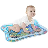 Warreal Baby Inflatable Patted Water Play Pad Tummy Time Toy Baby Prostrate Water Filled Cushion