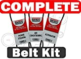 BANDO Toyota Tacoma 3.4L V6 1995-2004 Alternator-Air Conditioner-Power Steering Belt Set(3 belts)BANDO 4PK870 4PK1050 4PK1070