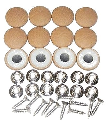 Set Of 12 Dura Snap Upholstery Buttons #36 Distressed Buckskin Vinyl