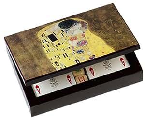 Dal Negro 80120 - Caja para cartas, diseño de El Beso de Klimt [Importado de Italia]