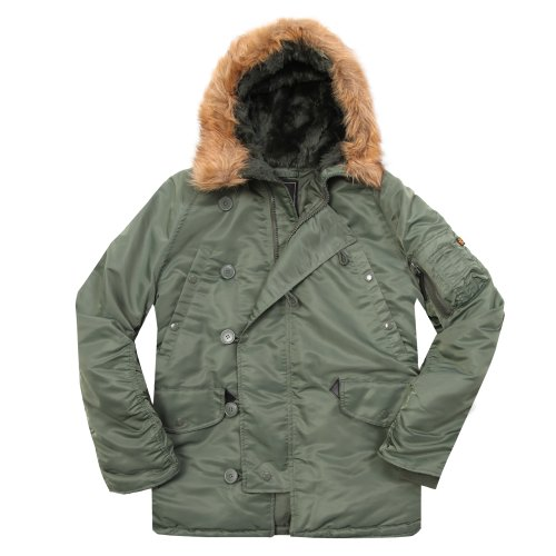 Alpha Industries Men's N-3B Parka, Sage, S