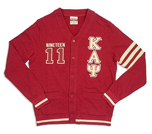 Kappa Alpha Psi Fraternity Mens New Cardigan Sweater 2XL Crimson Red Alpha Kappa Alpha Sweater