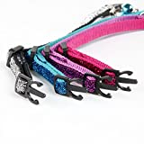 ComSaf Noble Cat Collar with Bell Set of 4 for Cats