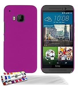 Muzzano F2501695 - Funda para HTC One M9 + 3 protecciones de pantalla, color rosa caramelo