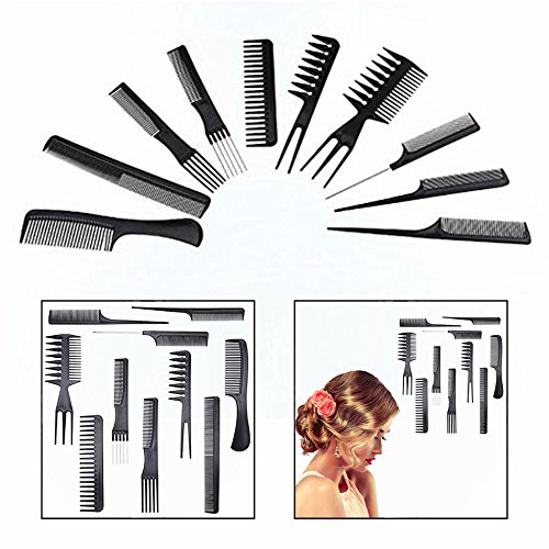 Gearmax For 10PCS Combs Professional Hairdressing Combs Anti-static Combs.
