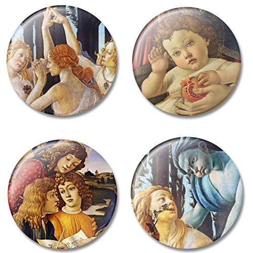Art Magnet Sandro Botticelli Refrigerator Magnet Set, Italian Painter of the Early Renaissance, Gift Set for Home or Office, Made in - Da Sunglasses Vinci