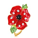 British Kate Princess memorial diamond brooch fashion drip diamond poppy saffron brooch new Run,AL142-A