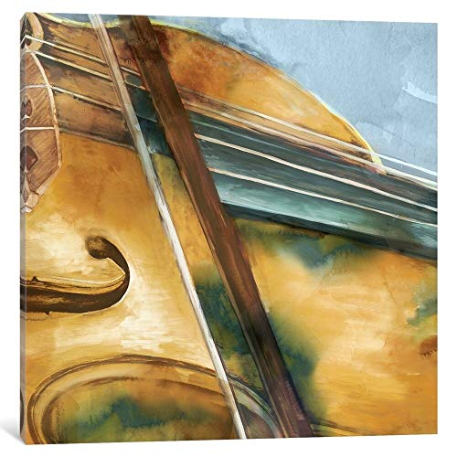 "iCanvas""Musical Violin"" by Eva Watts Canvas Print 18"" x 18"" x 0.75"""