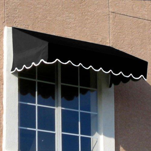 Awning Stripe Yarn (Awntech 3-Feet San Francisco Window/Entry Awning, 24 by 42-Inch, Black)