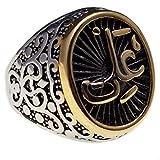 316L Stainless Steel Islamic Arabic Muslim Allah Imam Ali Ring Islam Art Gift (9)