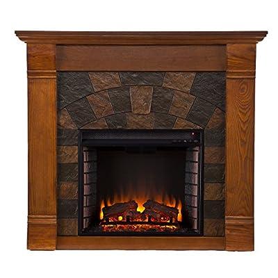 SEI Elkmont Salem Electric Fireplace, Antique Oak