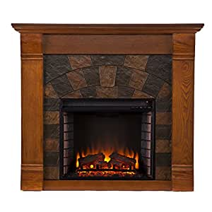 Elkmont Electric Fireplace - Salem Antique Oak