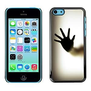 Smartphone Rígido Protección única Imagen Carcasa Funda Tapa Skin Case Para Apple Iphone 5C Hand Palm Window Fingerprint Art Body / STRONG