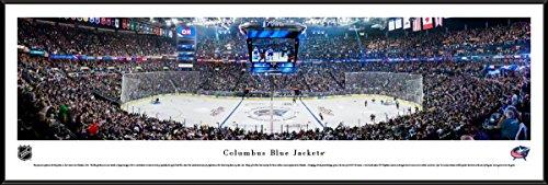 Columbus Blue Jackets Hockey - Standard Framed NHL Print by Blakeway Panoramas