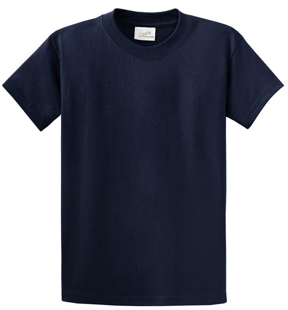 Joe's USA tm - Youth Heavyweight Cotton Short Sleeve T-Shirt in Size M