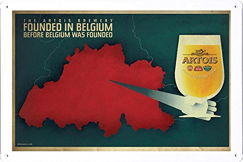 tin-sign-metal-poster-plate-8x12-of-stella-artois-beer-map-by-food-beverage-decor-sign