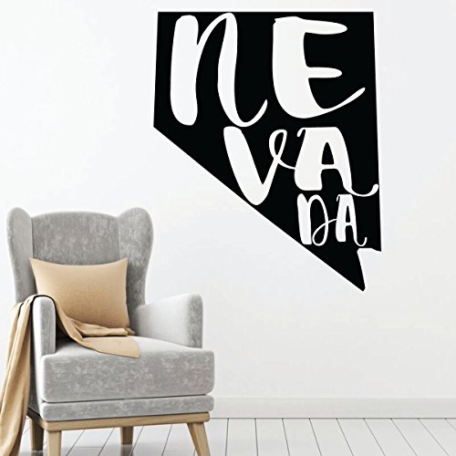 Nevada Wall Decal - State Silhouette Vinyl Art for Home Decor, Living Room or Family Room - Caesars Palace Chip
