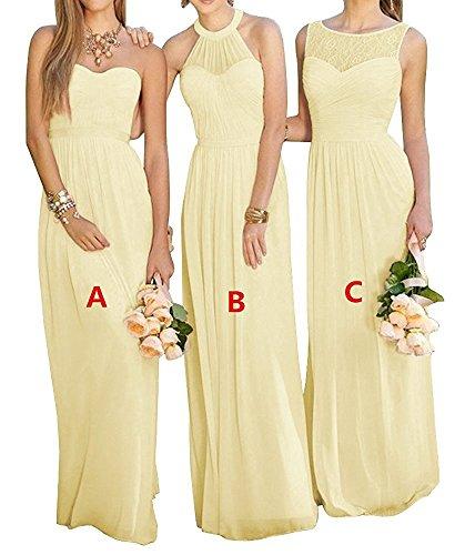 Brautjungfer kleid pastell gelb