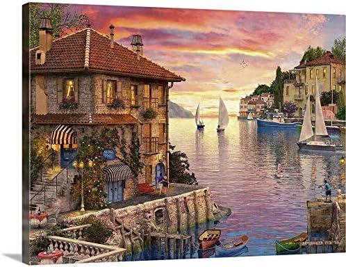 The Mediterranean Harbour Canvas Wall Art Print