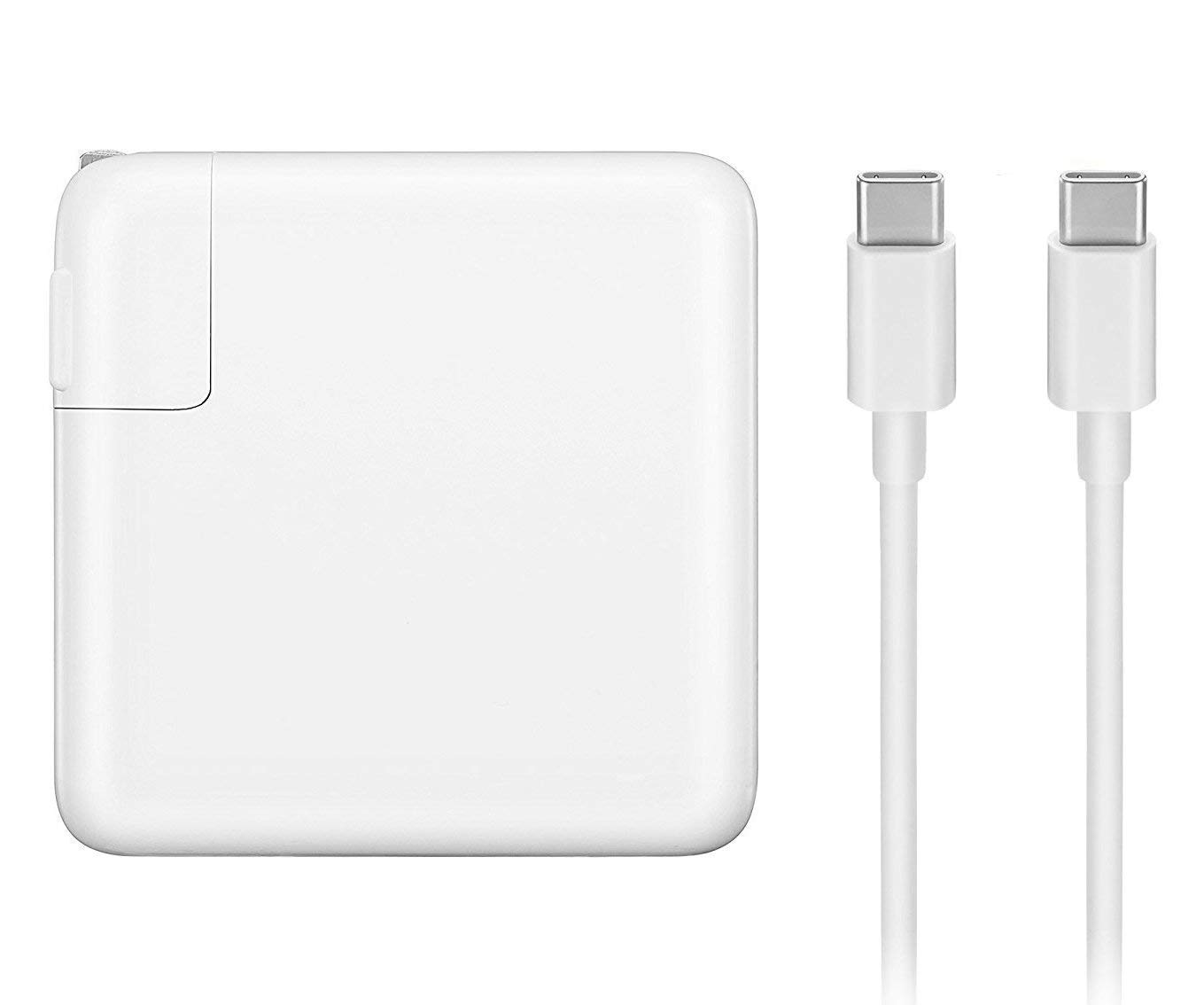 Mac Book Pro Charger, 87W USB-C To USB-C Ac Power Adapter Charger Replacement For MacBook Pro 13 Inch 15 Inch, MacBook Air 2018, With Type-C Charge Cable