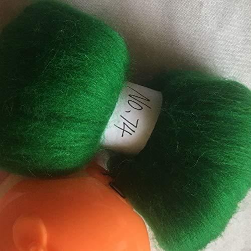 Maslin 70s Australia Combed 100% Wool Fiber Merino DIY Wool for neddles Felting Wool roving 50g 100g 200g 300g 500g 1000g NO.74 - (Color: 300g)