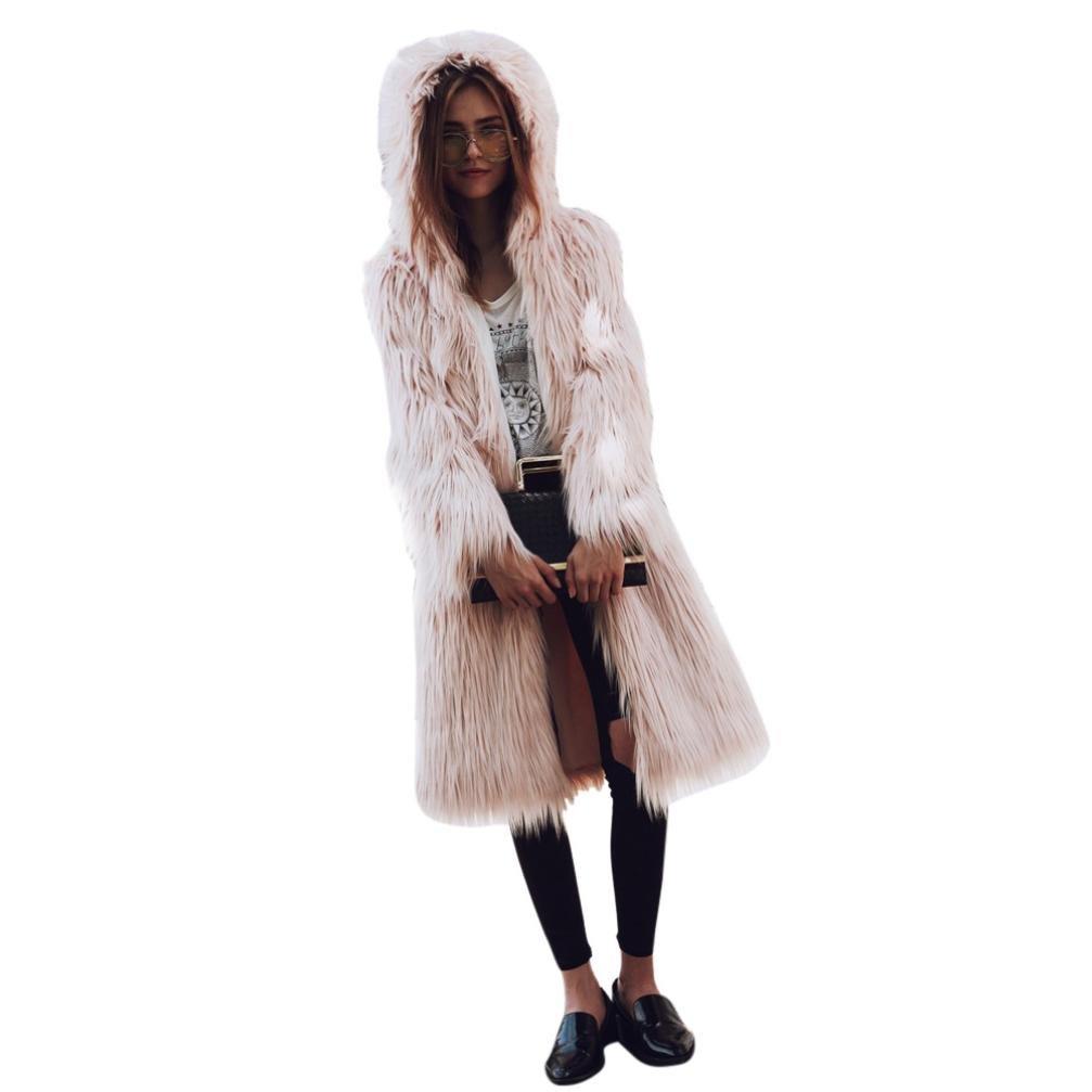 Sunward Women's Winter Faux Fur Hooded Parka Jacket Mid Long Coat 54sgvd