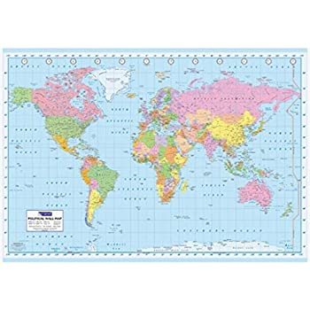 Amazon.com: Political World Map Giant Poster Print, 55x39 Giant ...