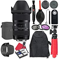 Sigma 18-35mm f/1.8 DC HSM Art Lens for Canon + Accessory Bundle